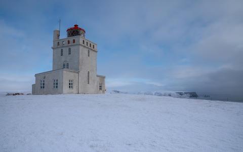 Cape Dyrholaey lighthouse, Vik, Iceland Photo