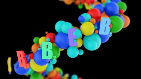 Vital vitamins and microelements on black vs alpha Animación