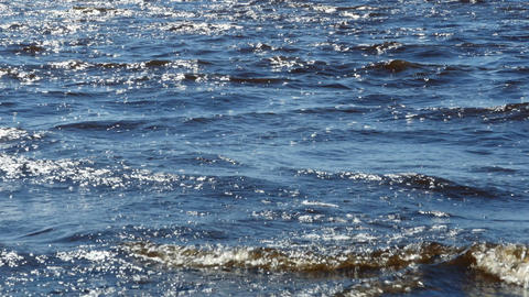sea waves with whitecaps Footage