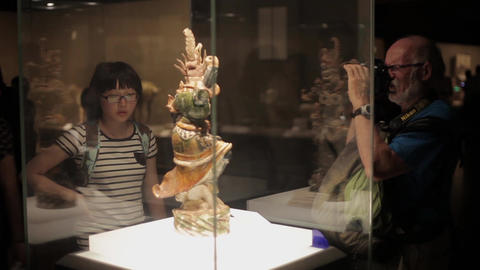 XI'AN China-May 30 2012: Chinese ancient cultural relic display in Shaanxi Live Action