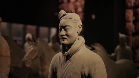 XI'AN-May 30 2012: The famous terracotta warriors of Xian Footage