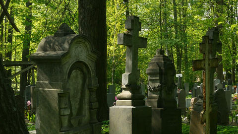 cemetery ancient monuments Footage