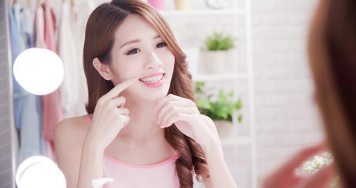 woman look her health teeth Footage