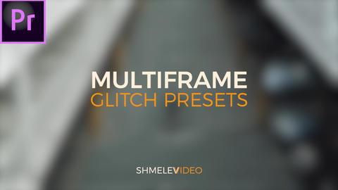 Multiframe Glitch Presets Premiere Pro Template