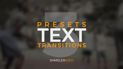 Text Transitions V.3 Premiere Pro Template
