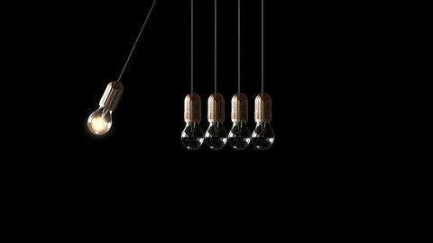 Bulb Newton's cradle Animation