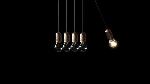 Bulb Newton's cradle Stock Video Footage