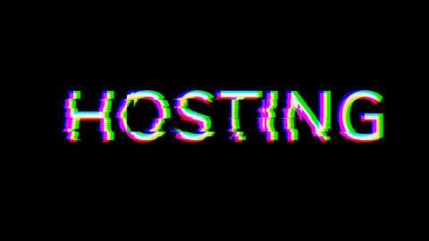 From the Glitch effect arises internet term HOSTING. Then the TV turns off. Alpha channel Animation