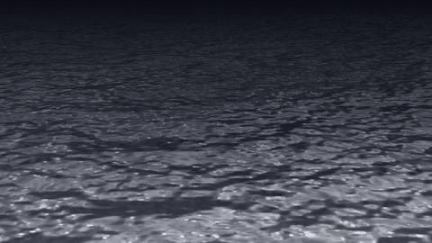 キラキラ光る水面のイメージCG CG動画
