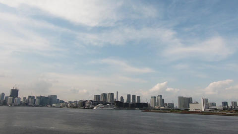 Tokyo Bay and the cityscape Footage