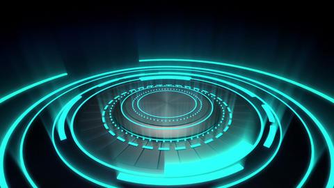 Futuristic glowing light circle loopable Animation