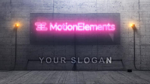 3D Cinematic Neon Logo After Effects Template