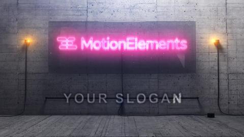 3D Cinematic Neon Logo Plantilla de After Effects