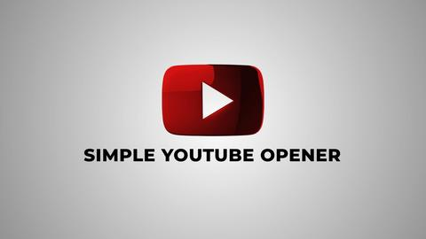 Simple Youtube Opener After Effects Template