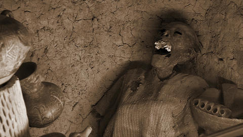 Mummy Of The Altiplano, In Bolivia, South America Footage