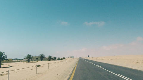 Driving On Coastline Highway In Namibia GIF