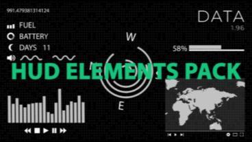 HUD Elements Pack モーショングラフィックステンプレート