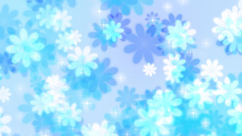 Flower-up-pastel-loop-blue Animation