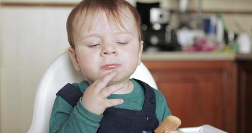 Boy child eats cookies Live Action