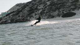 Handsome Man Kitesurfing in Dakhla, Morocco 3 Live Action