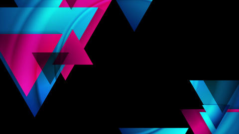 Abstract tech geometric triangles video animation GIF