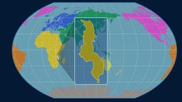 Malawi (Kavrayskiy VII). Continents Animation