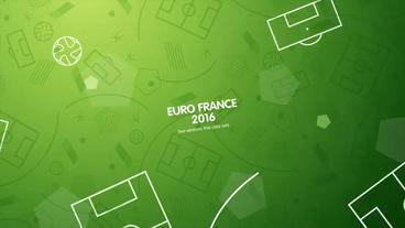 European Football (Soccer) Opener stock footage