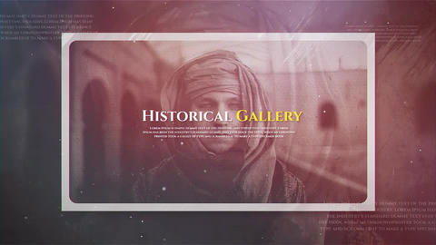 Historical Gallery After Effects Template