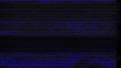 Scenic No Signal On Television Gltich Effect Animation