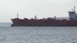 Commercial oil products tanker Pandar sailing in Pacific Ocean Footage