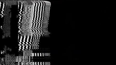 No Signal On Television Gltich Effect Analyzer Animation