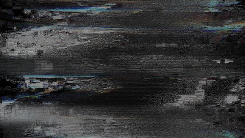 Meteor TV Failure Abstract Lights Background, Television Glitch And Damage Animation