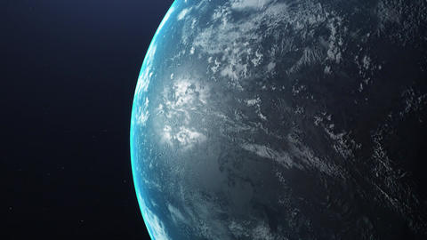 Sunrise Over The Earth. Amazing View Of Planet Earth From Space. HD. 1920x1080. Realistic 3d Live Action