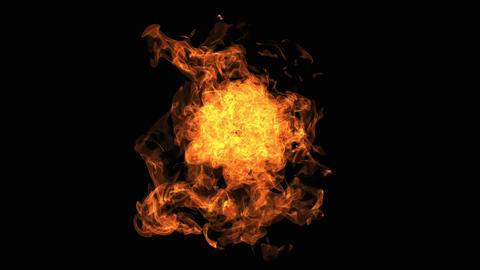 Fire explosion to the camera with Alpha Channel Animation