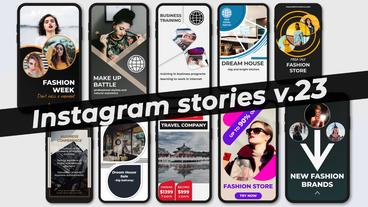 Instagram Stories v 23 Plantilla de After Effects