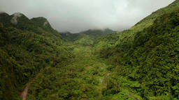 Mountains covered with rainforest, Philippines, Camiguin Footage