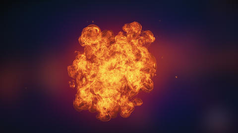 Fire explosion to the camera Animation