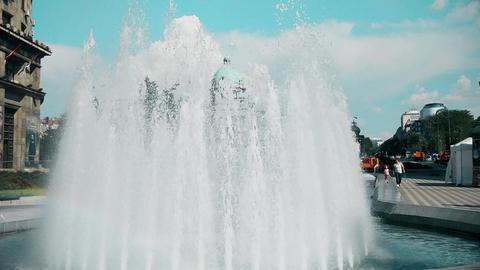 Great fountain in the city center in Belgrade Archivo