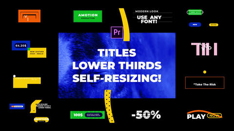 Titles Lower Thirds And Instagram MEGA PACK (PR MOGRT) 1