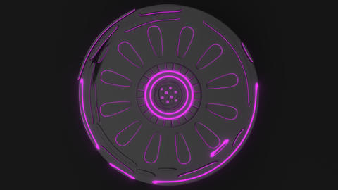 0888 Technological background loop with purple glowing lines Footage