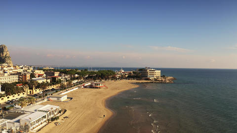 TERRACINA, ITALY - DECEMBER 30, 2018. Aerial view of the Grand Hotel l'Approdo GIF