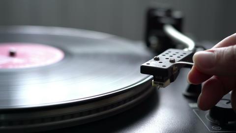 Retro cinema graph record player, great design loop Footage