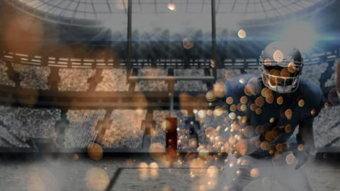 American football match with bubble effects Animation