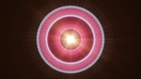 Pulsar 007: A graphic pulsar star radiates light and energy Animation