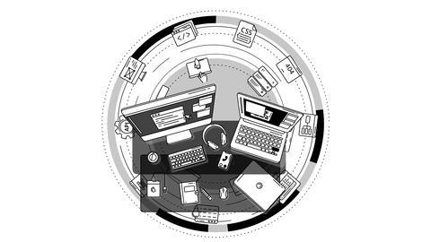 Promo Animation for Web Developer on alpha chanel Animation