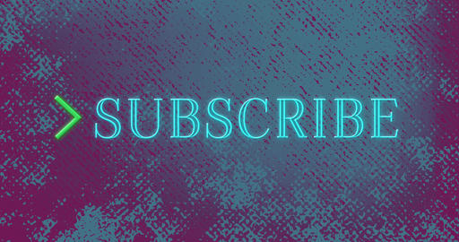 Animation of subscribe text flickering in blue color 4k Animation