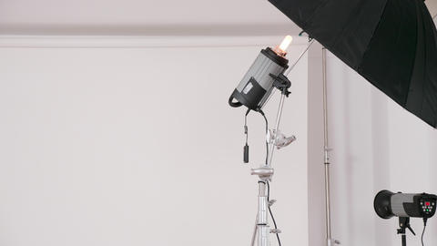 Close up of professional lighting equipment GIF