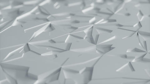 Abstract Low poly White Ice Background Loop with Depth of Field Close View Animation