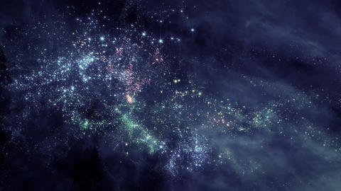 Space 2199: Flying through star fields and galaxies in space Animation
