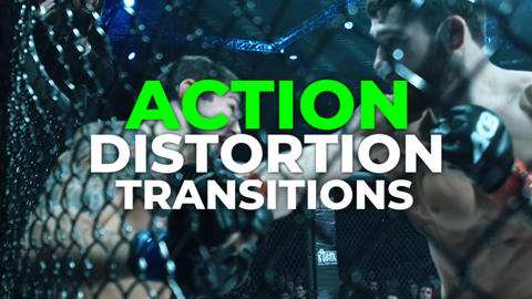 Action Distortion Transitions Premiere Pro Template